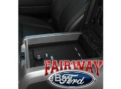 09 thru 14 F-150 OEM Genuine Ford Parts Console Combination Security Vault Safe