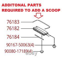 2017-2020 Tacoma Hood Scoop Installation Parts (NO SCOOP) Genuine Toyota OEM