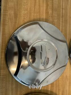 64-66 Chevy C10 20 Truck OE Wheel Center Hub Cap Dog Dish Hubcaps Set 4 10-3/4