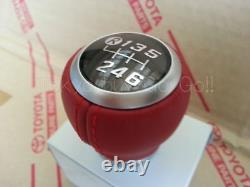 Fr-s Toyota 86 GT 86 BRZ Leather Shift Kmob MT Red NEW Genuine OEM Parts 2012-20