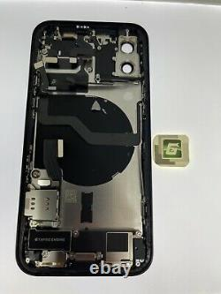 Genuine Black Iphone 12 OEM Original Genuine Housing With Small Parts OEM