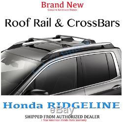 Genuine OEM Honda Ridgeline Silver Roof Rails & Crossbars Combo 2017- 2020