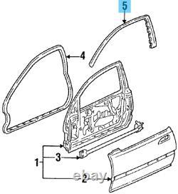 HONDA CIVIC EG4 EG6 1992-1995 Front Door Sub Seal LH & RH Set OEM Genuine Parts