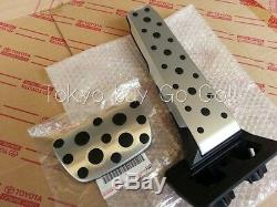 Lexus IS350 IS300h IS200t IS250 F-Sport Aluminum Pedal Set NEW Genuine OEM Part
