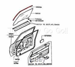MAZDA RX7 Window Channel Weatherstrip Seal Pair NEW Genuine OEM Parts 1979-1985