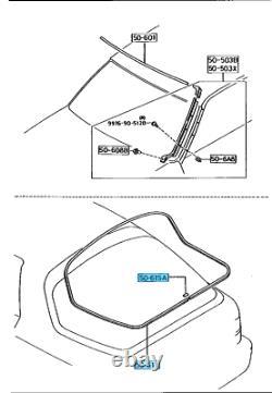 MAZDA RX-7 FC3S 86-92 Rear Glass Windshield Molding Seel Set OEM Genuine Parts