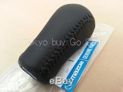 MAZDA RX-7 FD3S Black Leather Shift Knob NEW Genuine OEM Parts 1993-2002