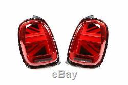 Mini Cooper F55 14- LED Genuine Rear Lights Lamps Pair Left Right Union Jack
