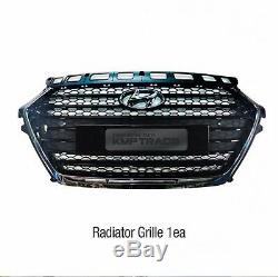OEM Front Radiator Hood Grille Cover Molding Trim 1ea For HYUNDAI 2015-2018 i40
