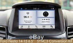 OEM Genuine Parts 6.5' Ford Fiesta SYNC 3 Upgrade kit for SYNC2 with carplay NAVI