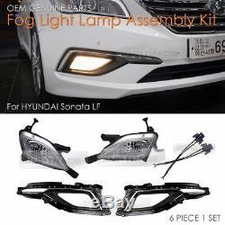 OEM Genuine Parts Fog Light Lamp Assembly Kit for HYUNDAI 2015 2017 LF Sonata