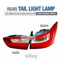 OEM Genuine Parts LED Rear Tail Light Lamp Assy RH for KIA 2012-2017 Rio Sedan