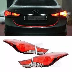 OEM Genuine Parts Rear Tail Light Lamp 4Pcs For HYUNDAI 2011 2016 Elantra MD