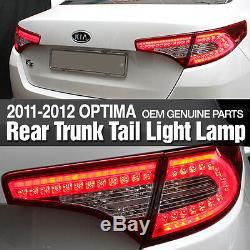 OEM Genuine Parts Rear Trunk Tail Light Lamp For KIA 2011-2013 Optima / K5