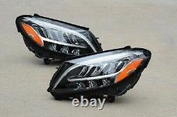 Perfect! 19 20 21 Mercedes W205 C-Class Headlight Set Pair Left + Right OEM