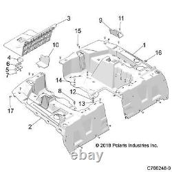 Polaris Left Side Bed Box, Genuine OEM Part 5454271, Qty 1
