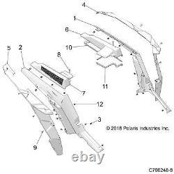 Polaris Rear Left Fender Flare, Gloss Black, Genuine OEM Part 5439762-070, Qty 1