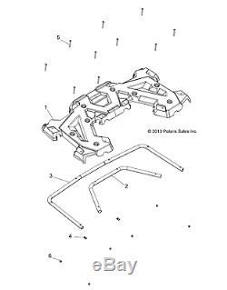 Polaris Rear Rack Assembly, Black, Genuine OEM Part 2635059-070, Qty 1
