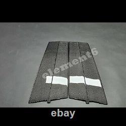 Real Carbon Fiber B+C pillar Plate Black OEM Parts For KIA Stinger 20182020+