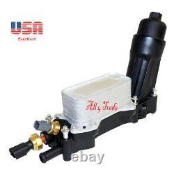 Set Engine Oil Cooler & Oil Filter Housing & Oil Pressure & Temperature Sensors