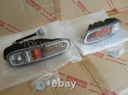 Supra JZA80 MK4 Front Turn Signal Lamp LH+RH set NEW Genuine OEM Parts 96-02