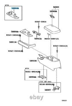 TOYOTA SUPRA JZA80 RHD Genuine Gear Shift Center Console Panel & Boot OEM Parts