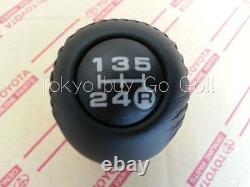 Toyota 4Runner 5Speed Black Leather Shift Lever Knob Genuine OEM Parts 1996-2000