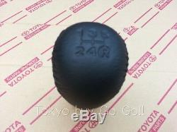 Toyota Corolla CP AE86 Leather Shift Knob NEW Genuine OEM Parts