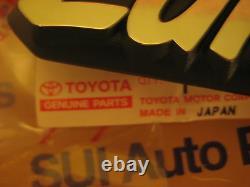 Toyota Land Cruiser FJ40 BJ40 Fender Emblems Genuine OEM Toyota Parts 1974-1981