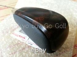Toyota Land Cruiser Wood Black Leather Shift Knob NEW Genuine OEM Parts 2008-16