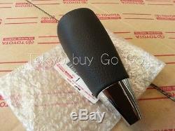 Toyota Land Cruiser Wood Grain Brown Leather Shift Knob Genuine OEM Part 2008-16
