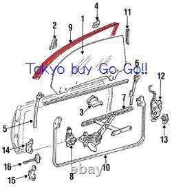 Toyota MR2 SW20 21 Roof Side Rail Weather Strip LH +RH set NEW Genuine OEM Parts