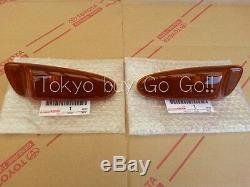 Toyota Supra Bumper Side Turn Signal Lamp Lens Pair NEW Genuine OEM Parts