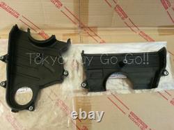 Toyota Supra MK4 JZA80 Timing Belt Cover UPP LOW set NEW Genuine OEM Parts