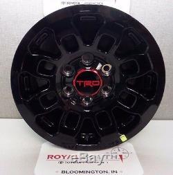 Toyota Tacoma 2017 TRD PRO 16 Wheels & Center Caps (4) Genuine OEM OE Brand New