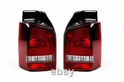 VW Caravelle T5 10-15 Smoked Sportline Rear Lights Lamps Pair Set Left Right