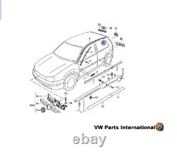 VW Golf MK4 GTI R32 Rear Left NS Roof Gutter Trim Genuine New OEM VW Part
