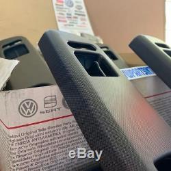 VW Golf MK4 Satin Black Net Optic Interior Door Handle Cover Genuine OEM VW Part