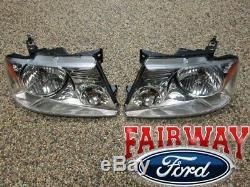 04-08 F-150 Oem D'origine Ford Pièces Lh & Rh Head Lampe Paire Marque Nouveau