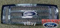 2009-2014 F-150 Oem D'origine Ford Pièces Grille En Chrome Withemblem Nouveau