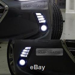 Avant Oem Pare-chocs Lampe De Brouillard Drl Lumière Cover Set 8ea Pour Hyundai 2017 Elantra Ad