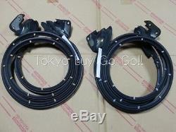 Avant Toyota Celica Porte Intérieure Inférieure Lh Rh Weatherstrip Paire D'origine Oem Parts