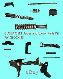 Glock Supérieur Et Inférieur Kit De Pièces Oem Pour Glock 43 Pièces D'origine 9 MM