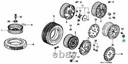 Honda CIVIC Ek9 Integra Dc2 Type-r Genuine Wheel Center Cap 4pcs Set Oem Parts