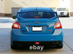 Jdm S4 Led Drl Fog Light Bezels & Red Led Rear Foglight For 15-17 Subaru Wrx Sti