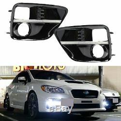 Jdm S4 Led Feux De Jour Drl Léger Brouillard Cadrans Pour 15-17 Subaru Wrx Sti