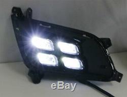 Kspeed 10w Led Éclairage Diurne Lampes Pour 14-15 Kia Optima K5 Avec Drl Bezel