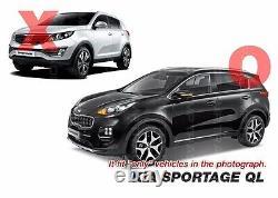 Oem Rear Bumper Dual Type Skid Silver Plate Diffuseur Pour Kia 2017-20 Sportage Ql