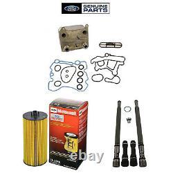 Oem Refroidisseur D'huile Support Tuyau / Dummy Plugs & Filtre À Huile Kit Pour 2004-2007 Ford 6.0l