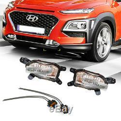 Pièces Oem Brouillard Lampe Gauche Droite + Set Connecteur Pour Hyundai 2017 2020 Kona
